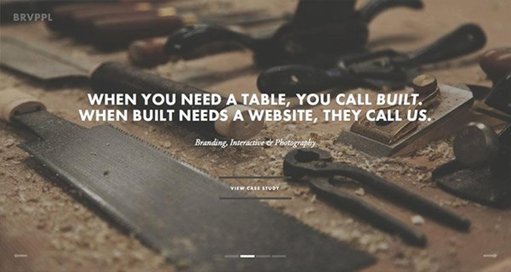 现今比较流行的网站设计风格(全屏网站)